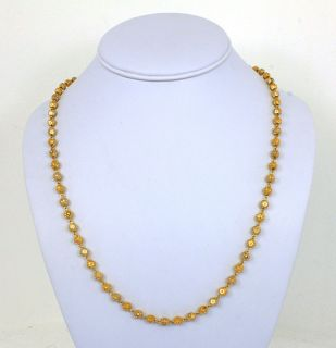 Ornate Two Tone 22K Gold Ladies Stylish Chain Necklace