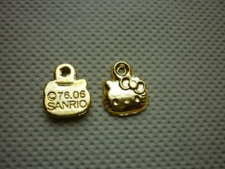 10 Gold Plated Hello Kitty Charm Charms Pendant New