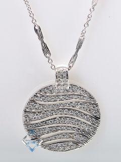 Roberto Coin 18K White Gold Diamond Disc Necklace