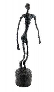 Art Bronze Sculpture Falling Man A Tribute to Giacometti