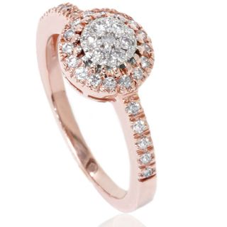 Diamond Anniversary Right Hand Engagement Ring 14k Rose Gold