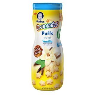 Flavors Pack Gerber Graduates Fruit Cereal Puffs Baby Snack Food