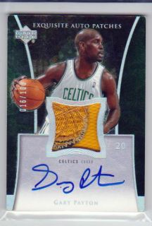05 Ud Exquisite Collection Patch Autograph Auto GARY PAYTON 100 dinged