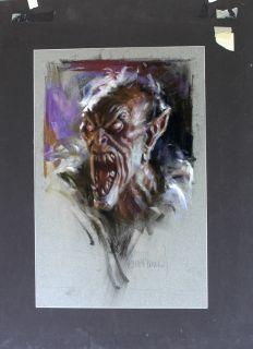 Harley Brown Original Art Army of Darkness Deadite Sam Raimi Artwork