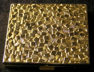 Vintage Art Deco Germaine Monteil Gold Nugget Vanity Compact