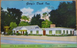 1951 PC Garys Duck Inn Restaurant Orlando Florida FL