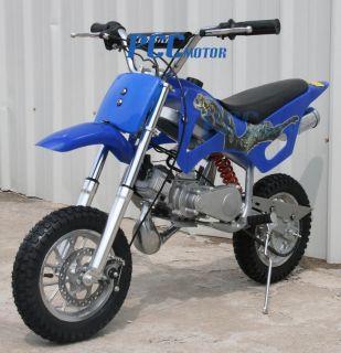 50cc 2 Stroke Gas Motor Mini Bike Dirt Pit Bike Blue H DB49A