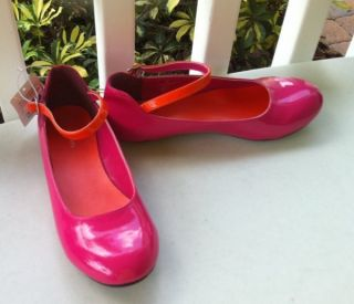 New Xhilaration Gerty Pink Patent Mary Jane Dress Shoes Girls 4 M