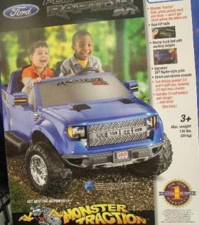 Power Wheels Ford F 150 Kid Toy Raptor 12V Battery Powered Ride On