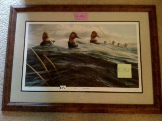 RON VAN GILDER Passing Storm Signed Limited Duck Framed Auto #ed