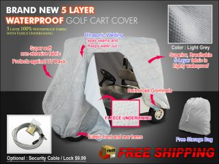 EZ Go Golf Cart Covers 5 Layer Waterproof 2 Seater