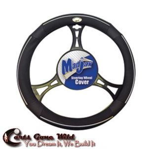 Golf Cart Steering Wheel Cover Black Leather Custom Look