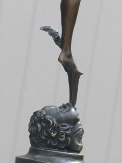 RARE Bronze Mercury Figure Ancient Roman Museum Quality Sculpture Art