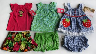 NWT Baby Girls Summer Clothes 6m Lot 6pc Carters Outfit NEW Dress