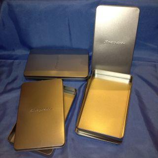 4pack Snap on Tin Metal Gift Storage Tool Box Case Organizer 6 x 10 x
