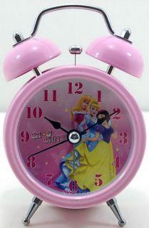 Disney Princess Children Girls Desktop Light Twin Bell Alarm Clock