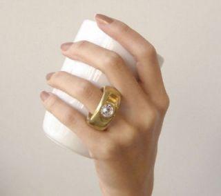 1x Elegant Faux Diamond Gold Ring Coffee Cup Mug Cute
