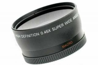 58mm 0 45X Wide Angle Lens for Canon Rebel XSi T1i T2i