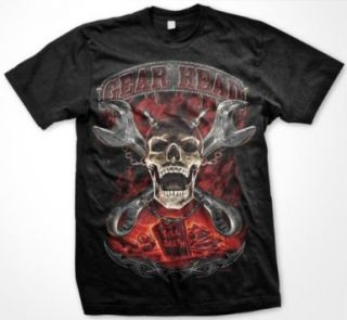 Gear Head Skull Chain Gothic Fantasy Tees Mens T Shirt