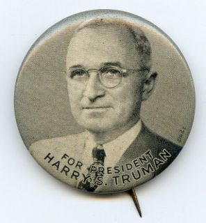 Harry s Truman for President 1948 Pin Pinback Button