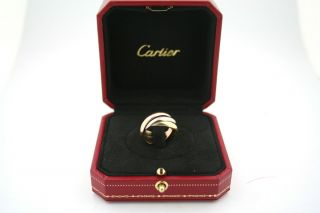 Cartier 18kt Tricolor Gold Trinity Rolling Ring