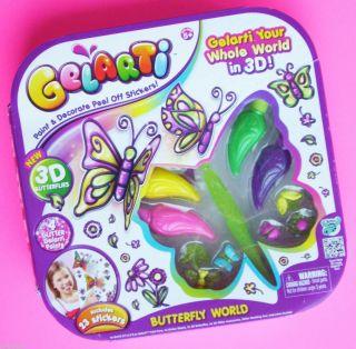 Gelarti 3D Butterfly World Glitter Paint Decorate 3D Stickers NEW