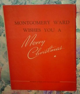RUDOLPH THE RED NOSED REINDEER MONTGOMERY WARD 1939 COPYRIGHT