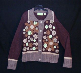 CABLE KNIT WOOL CARDIGAN from DESIGN OPTIONS by PHILIP JANE GORDON M