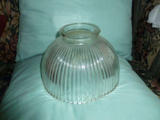 Clear Glass Light Lamp Replacement Shade Ribbed