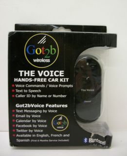 Got2b wireless The Voice Hands Free Facebook Texting Bluetooth Car Kit