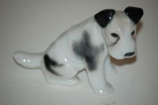 GOTHA E PFEFFER PORZELLAN porcelain black white dog scotty schnauzer
