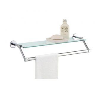 Glass Bath Rack Bathroom Towel Holder Shelf Tempered Glass Shelves NEW