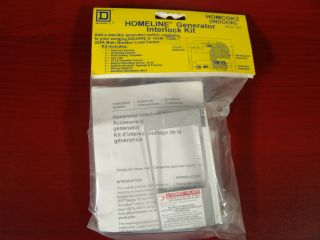 Square D Homeline Generator Interlock Kit   Indoor (HOMCGK2)   New In