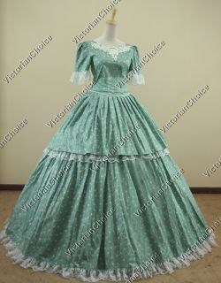 Civil War Southern Belle Ball Gown Dress Reenactment 168 S