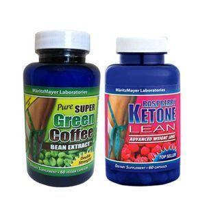 PURE SUPER GREEN COFFEE Bean Extract Chlorogenic Acid & RASPBERRY