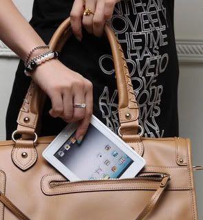 iPad 2 MacBook Makeup Compact Mirror Woman Girls Cosmetic Bag