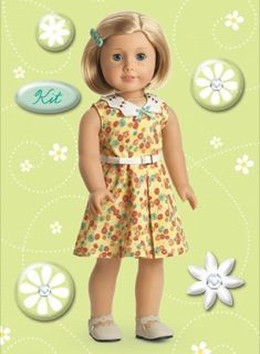 American Girl Crafts Kit Kittredge Bubble Stickers