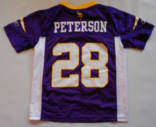 Adrian Peterson 28 Vikings NFL Football Jersey Child Small s 4