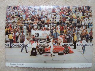 Gordon Johncock Indy 500 USAC NASCAR Goodyear Racing Auto Indiana