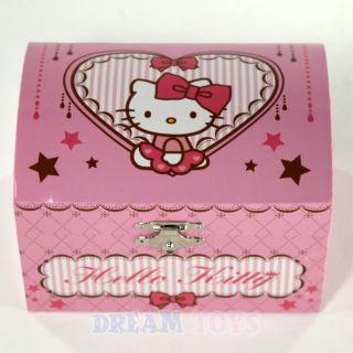 Sanrio Hello Kitty Pink Musical Jewelry Box Girls Accessories
