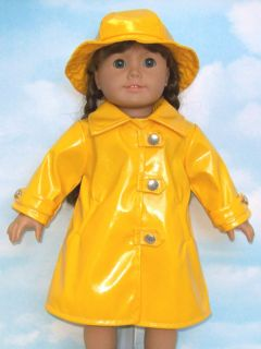Doll Clothes Fits American Girl Molly Raincoat Hat