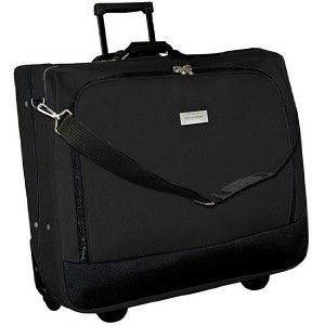 NEW Geoffrey Beene WHEELED ROLLING Garment Bag Suitcase   BLACK