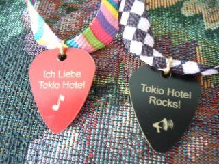 New Tokio Hotel Bill Tom Kaulitz Georg Listing Lyrics Guitar Pick