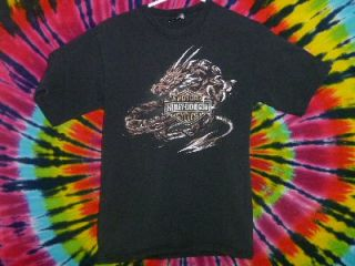 Harley Davidson Dragon Tattoo Design Prince George Motorcycle T Shirt