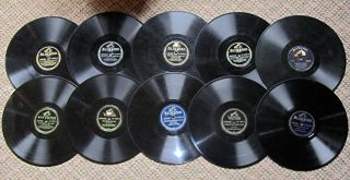 10 Glenn Miller 78s on Bluebird RCA