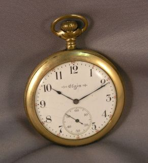 Antique Elgin Pocket Watch Illinois Watch Co Gold Filled Case Open
