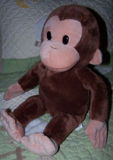 Kids Applause Plush Stuffed Curious George Brown Monkey Toy 16
