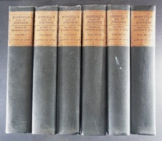 Complete 6 Volume Set of Boswells Life of Johnson Bigelow Brown C1900