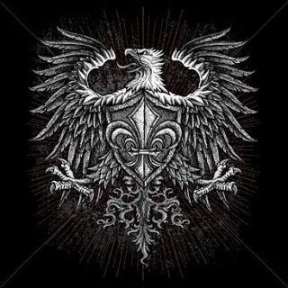 Gothic Eagle Fleur de Lis T Shirt Biker