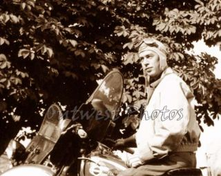 1940 Harley Davidson Rider Biker with Googles Photo